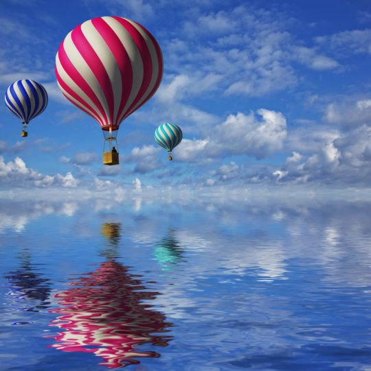 Landscape balloon rides Android SmartPhone Wallpaper
