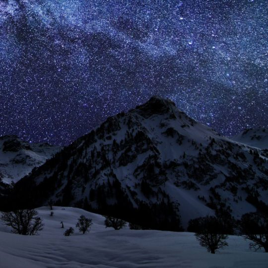 Mountain landscape night sky Android SmartPhone Wallpaper