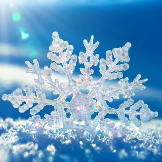 Natural snow crystals Android SmartPhone Wallpaper