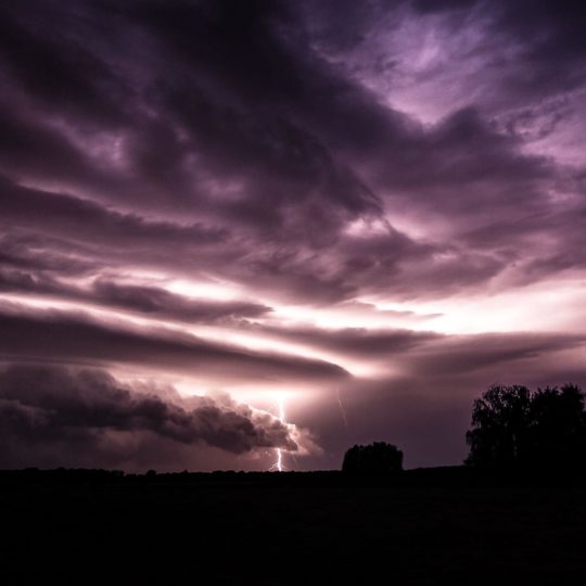 Landscape lightning Android SmartPhone Wallpaper