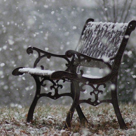Landscape bench snow Android SmartPhone Wallpaper