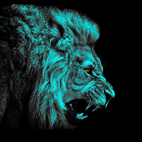 Animal lion green Android SmartPhone Wallpaper