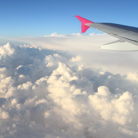 Scenery sky clouds airplane Android SmartPhone Wallpaper