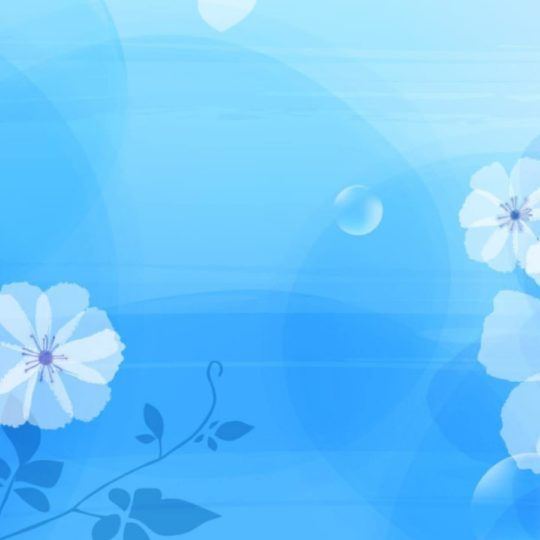Pattern  blue  flower Android SmartPhone Wallpaper