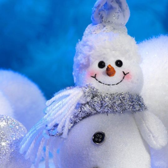 Cute snowman white Android SmartPhone Wallpaper