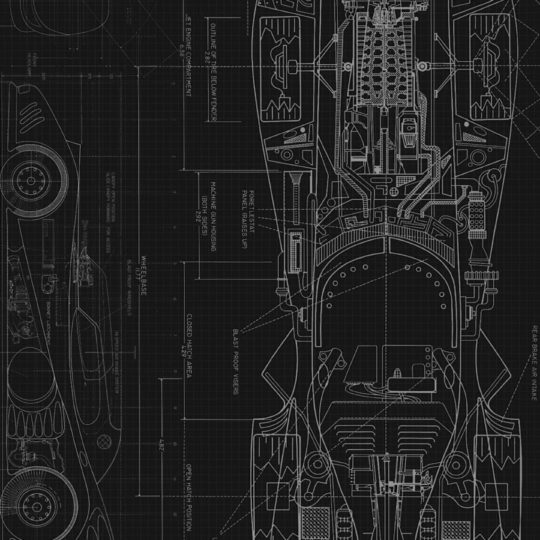 Cool blueprint black Android SmartPhone Wallpaper
