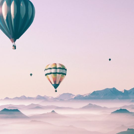 Cute landscape sky balloon for girls Android SmartPhone Wallpaper