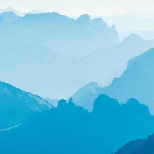 Scenery  blue  mountain Android SmartPhone Wallpaper