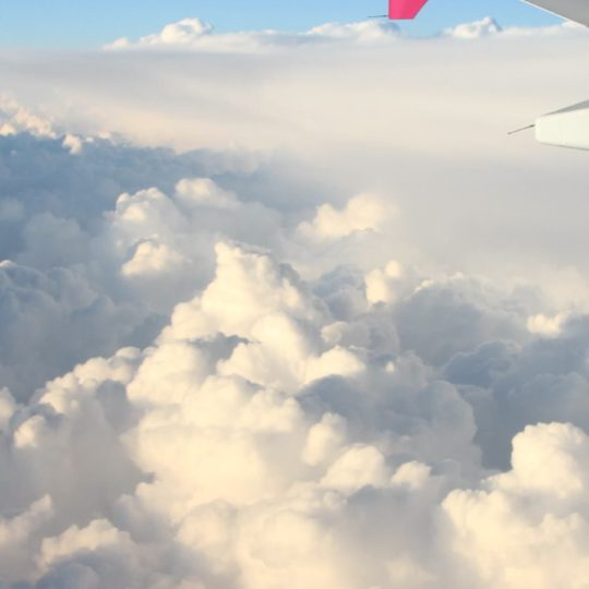 Sky clouds airplane Android SmartPhone Wallpaper