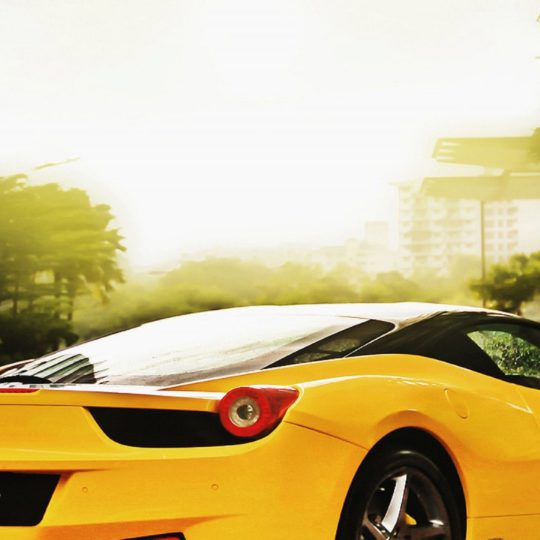 Vehicle car yellow cool Android SmartPhone Wallpaper