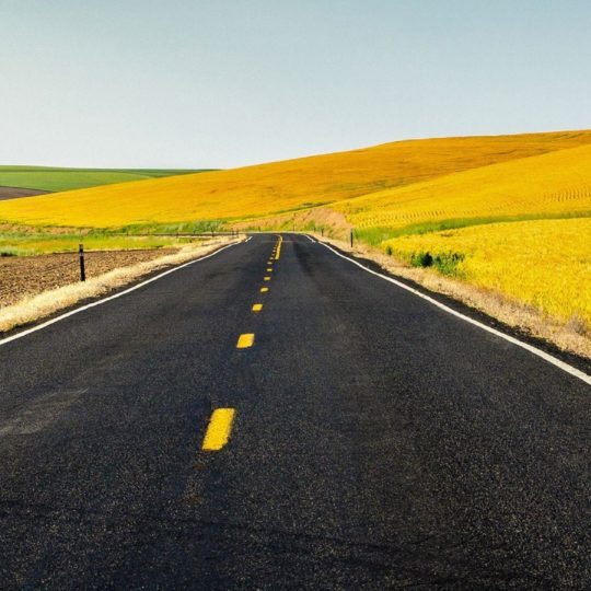 Road sky  yellow 景 color Android SmartPhone Wallpaper