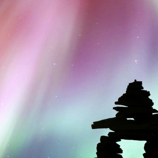 Night black colorful Aurora Android SmartPhone Wallpaper