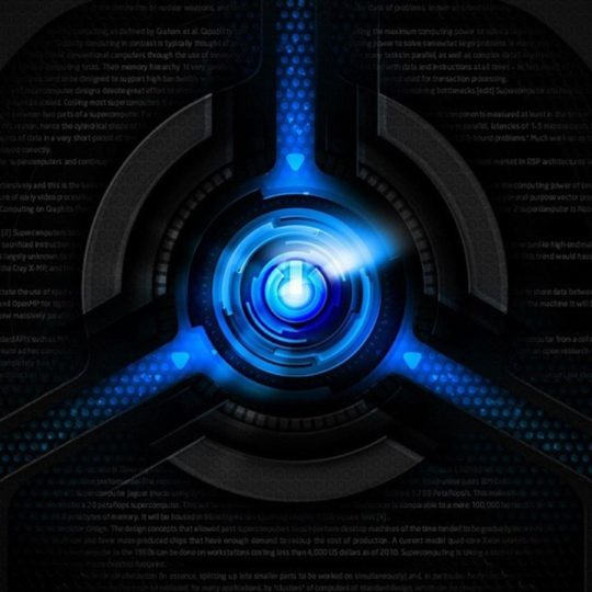 Cool Black Blue Android SmartPhone Wallpaper