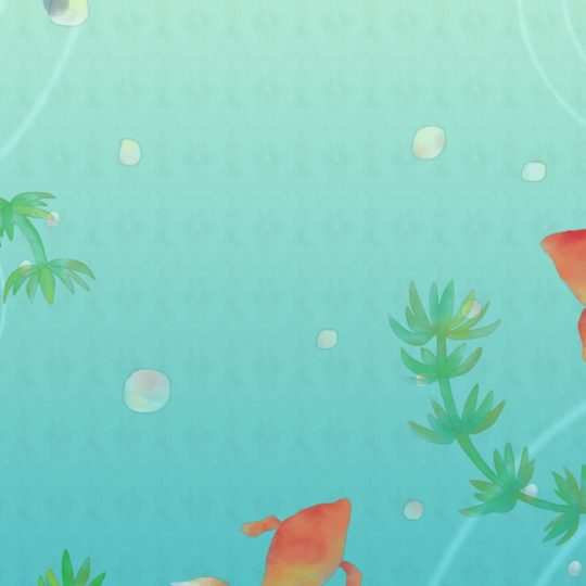 Goldfish illustration Android SmartPhone Wallpaper