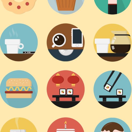 Illustrations food yellow colorful for women Android SmartPhone Wallpaper