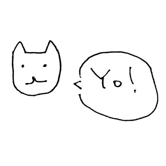 Illustrations cat white Yo! Android SmartPhone Wallpaper