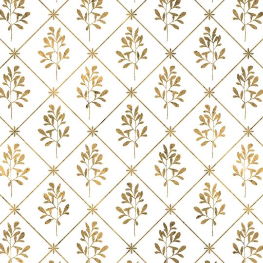 Illustrations pattern gold plant Android SmartPhone Wallpaper