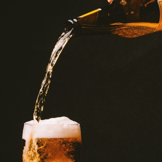 Glass beer black Android SmartPhone Wallpaper