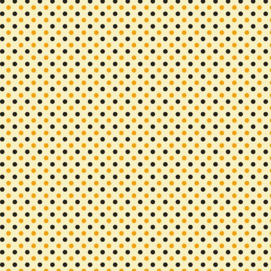 Pattern polka dot yellow black Android SmartPhone Wallpaper