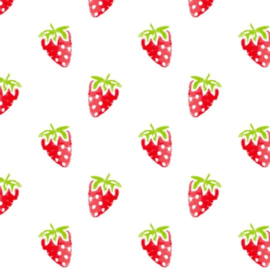 Pattern illustration fruit strawberry red women-friendly Android SmartPhone Wallpaper