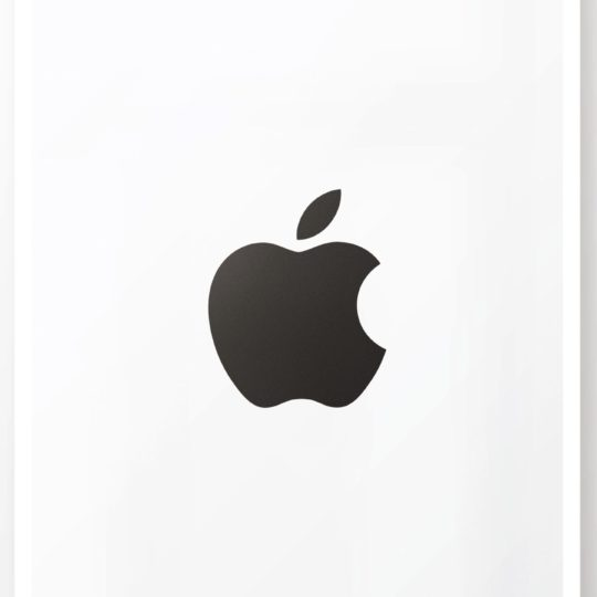 Apple logo black and white cool poster Android SmartPhone Wallpaper