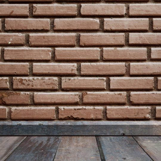 Brick wall floorboards Android SmartPhone Wallpaper