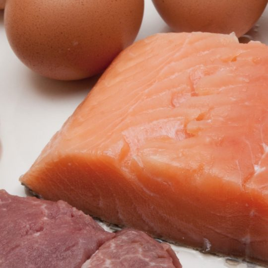 Food meat and fish eggs red Android SmartPhone Wallpaper