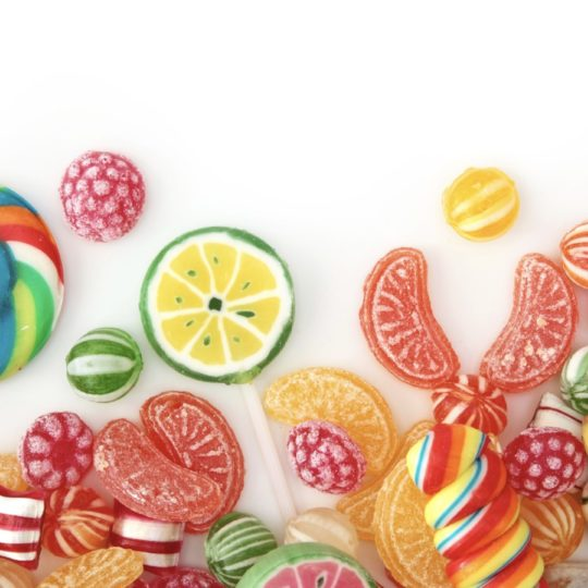 Women for food candy colorful candy Android SmartPhone Wallpaper