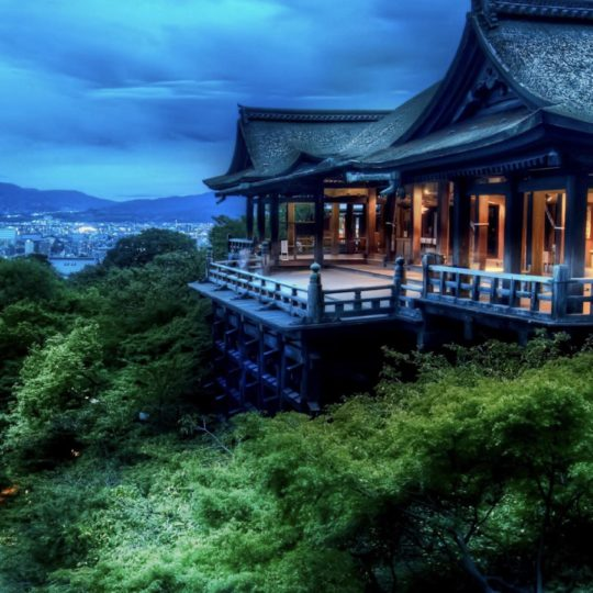 Landscape Kiyomizu Temple green Android SmartPhone Wallpaper