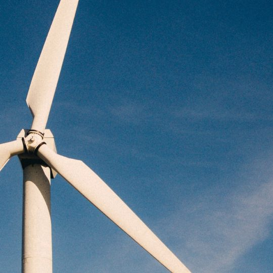 Landscape wind power blue Android SmartPhone Wallpaper