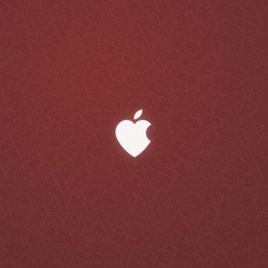 Apple Heart red Android SmartPhone Wallpaper