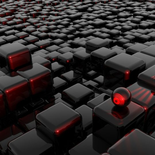 Cool red and black block Android SmartPhone Wallpaper