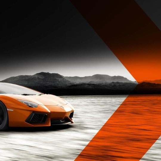 Vehicle car orange Android SmartPhone Wallpaper
