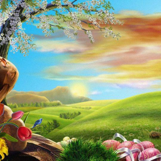 Grassland landscape Android SmartPhone Wallpaper
