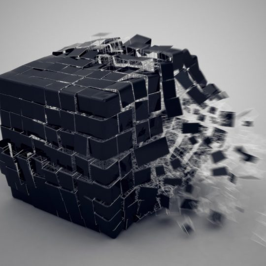 Cool black block Android SmartPhone Wallpaper