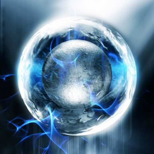 Cool blue sphere Android SmartPhone Wallpaper