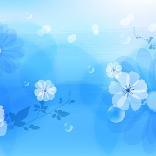Blue flower pattern Android SmartPhone Wallpaper