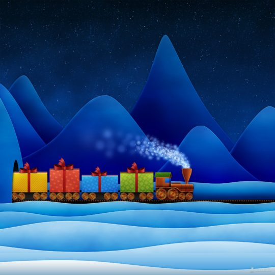 Christmas gift blue Android SmartPhone Wallpaper
