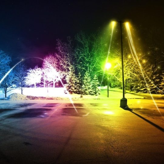 Landscape streetlights Android SmartPhone Wallpaper