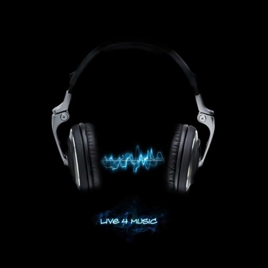 Cool headphones black Android SmartPhone Wallpaper