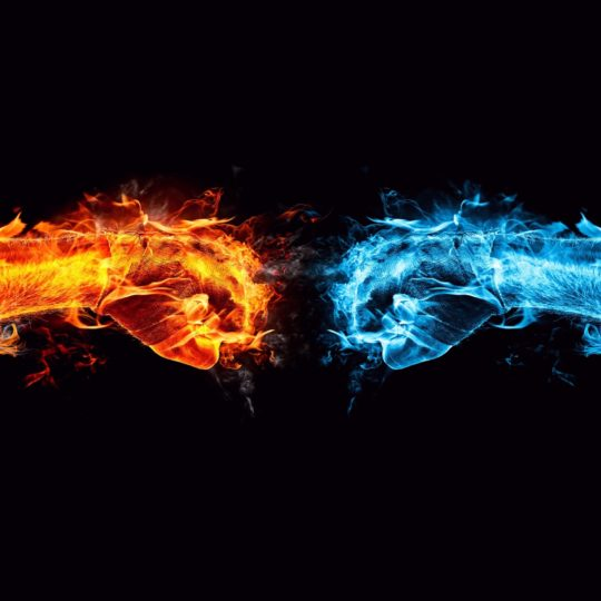 Cool blue flame red Android SmartPhone Wallpaper