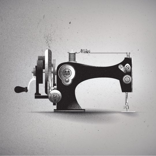 Cool sewing machine Android SmartPhone Wallpaper