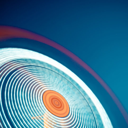 Cool blue circle Android SmartPhone Wallpaper