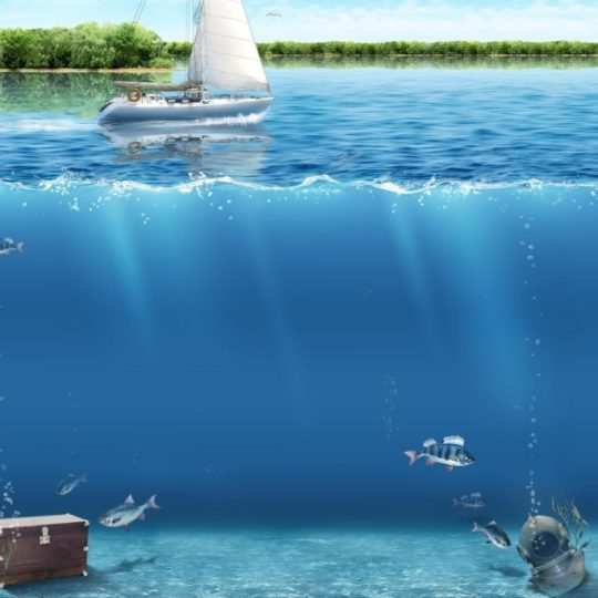 Landscape water blue Android SmartPhone Wallpaper
