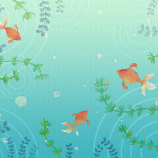 Pattern goldfish green Android SmartPhone Wallpaper
