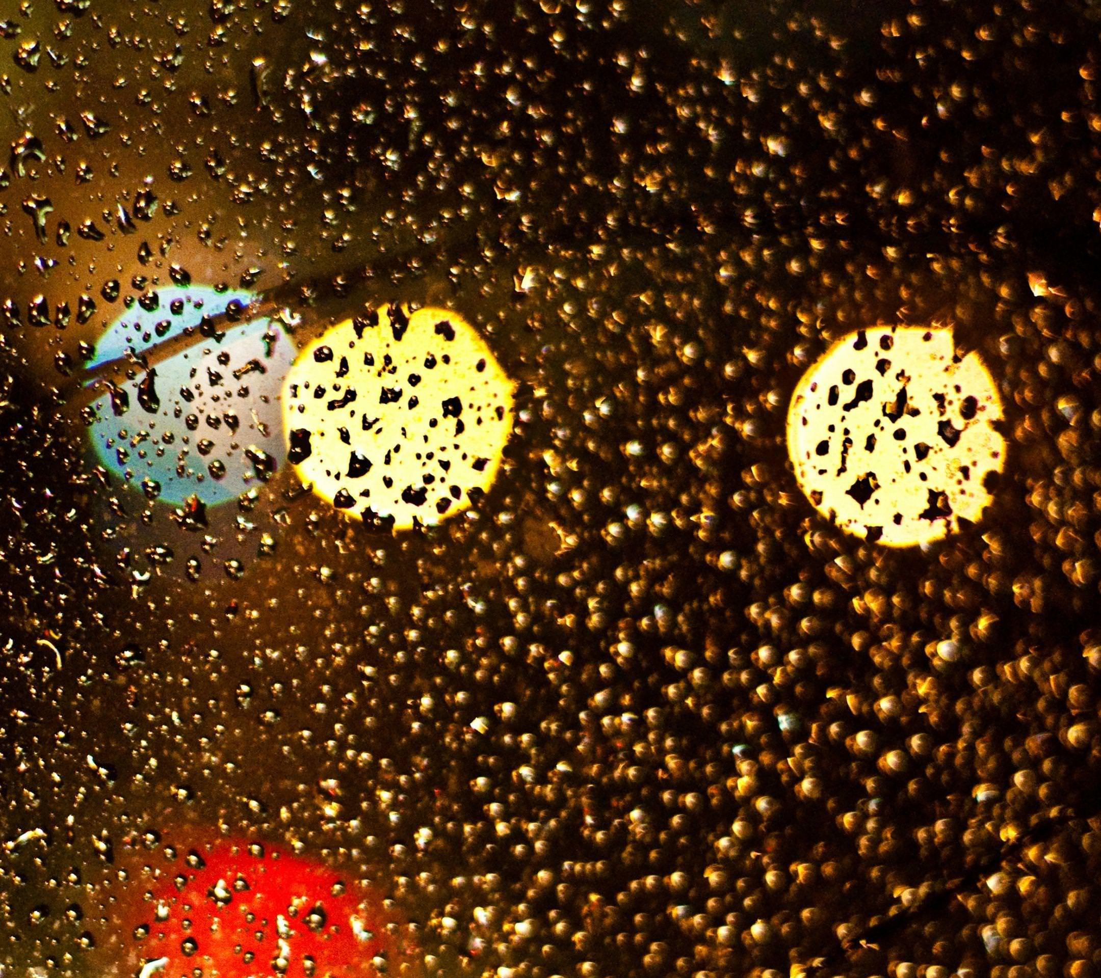 Landscape Glass Water Droplets