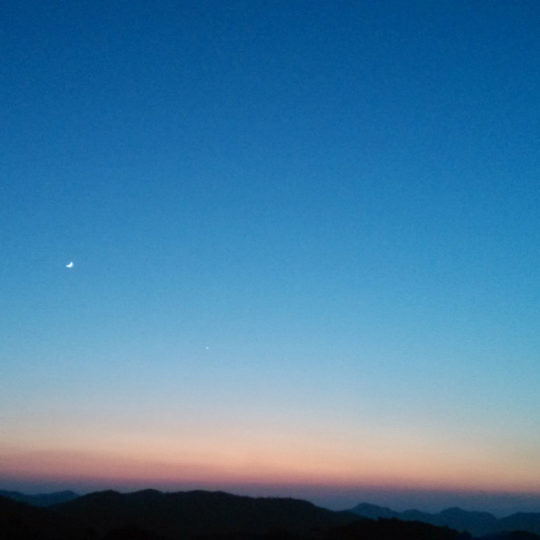 Dusk moon sky Android SmartPhone Wallpaper