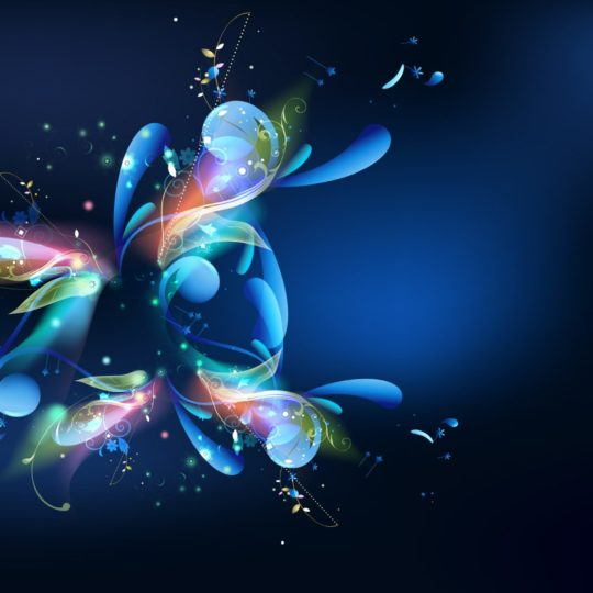 Cool graphics blue colorful Android SmartPhone Wallpaper