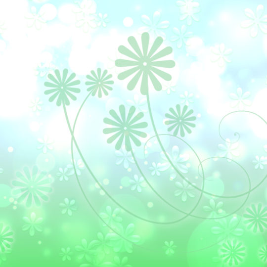 Cute green leaf  flower  white Android SmartPhone Wallpaper