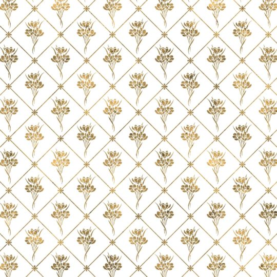 Illustrations pattern gold plant flowers Android SmartPhone Wallpaper